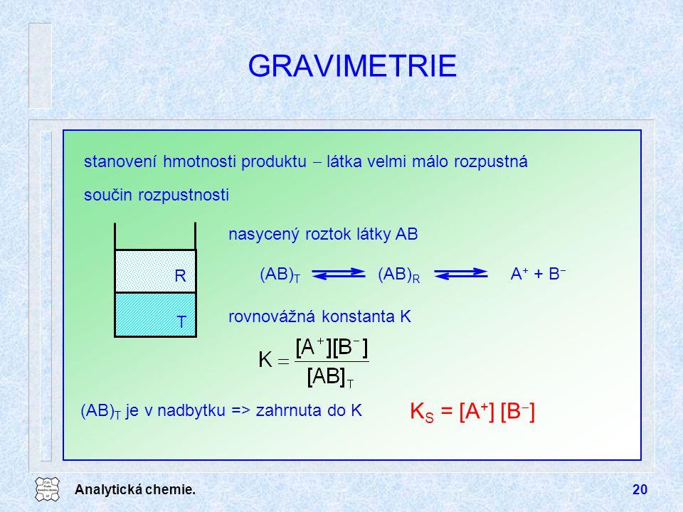 GRAVIMETRIE KS = [A+] [B-]
